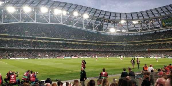 Aviva Stadium, vak: 108, rij: K, stoel: 14