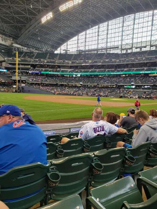American Family Field, vak: 126, rij: 6, stoel: 15