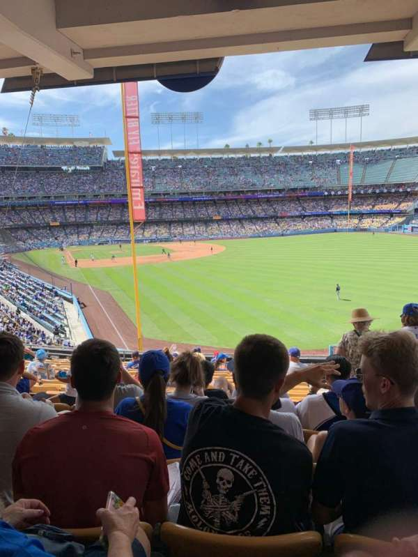 Dodger Stadium, vak: 166LG, rij: S, stoel: 19