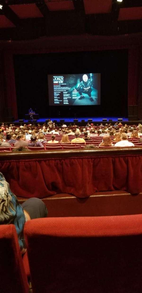 San Diego Civic Theatre, vak: Dress circle, rij: B, stoel: 14