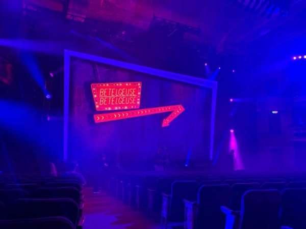 Winter Garden Theatre, vak: Orchestra L, rij: O, stoel: 1