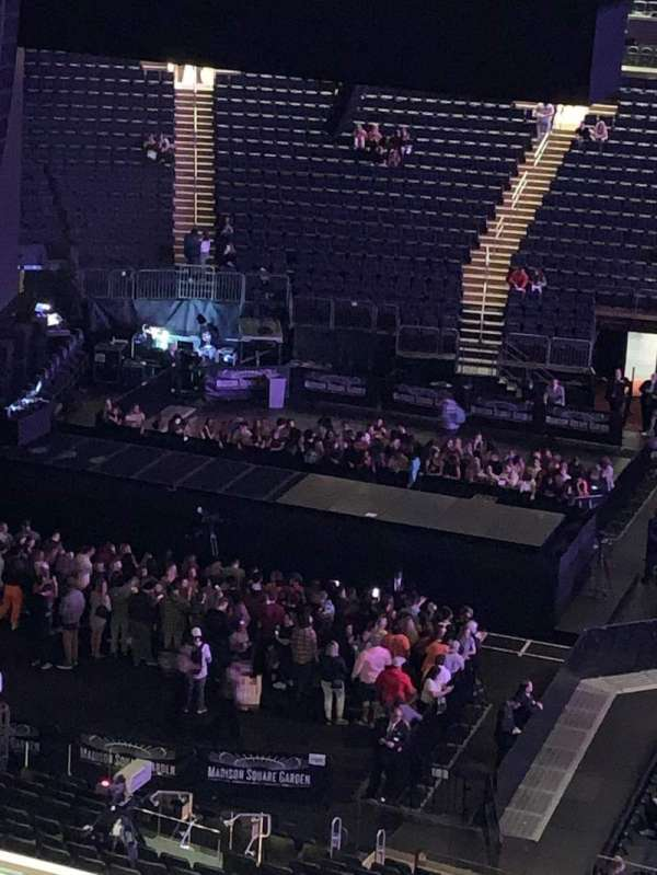 Madison Square Garden, vak: 224, rij: 11, stoel: 7