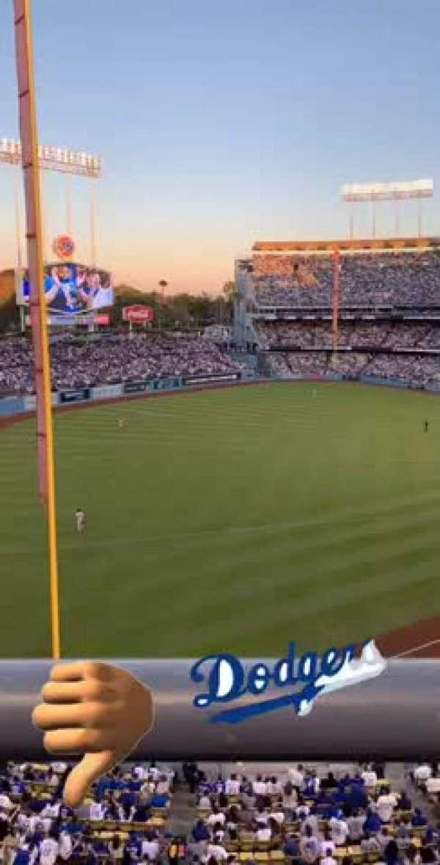 Dodger Stadium, vak: 47RS, rij: A, stoel: 6