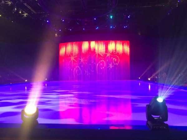 Manchester Arena, vak: E, rij: B, stoel: 8