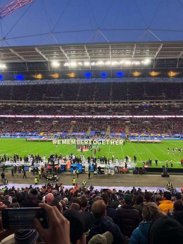 Wembley Stadium, vak: 122, rij: 39, stoel: 298