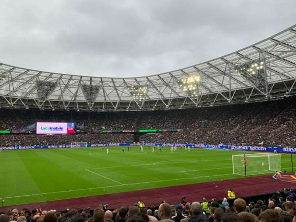 London Stadium, vak: 118, rij: 18, stoel: 107