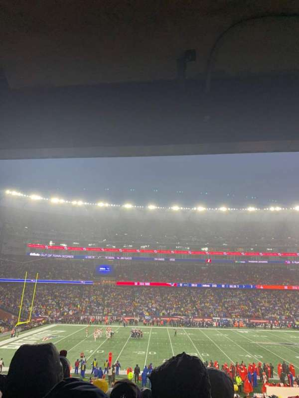 Gillette Stadium, vak: 134, rij: 35, stoel: 1