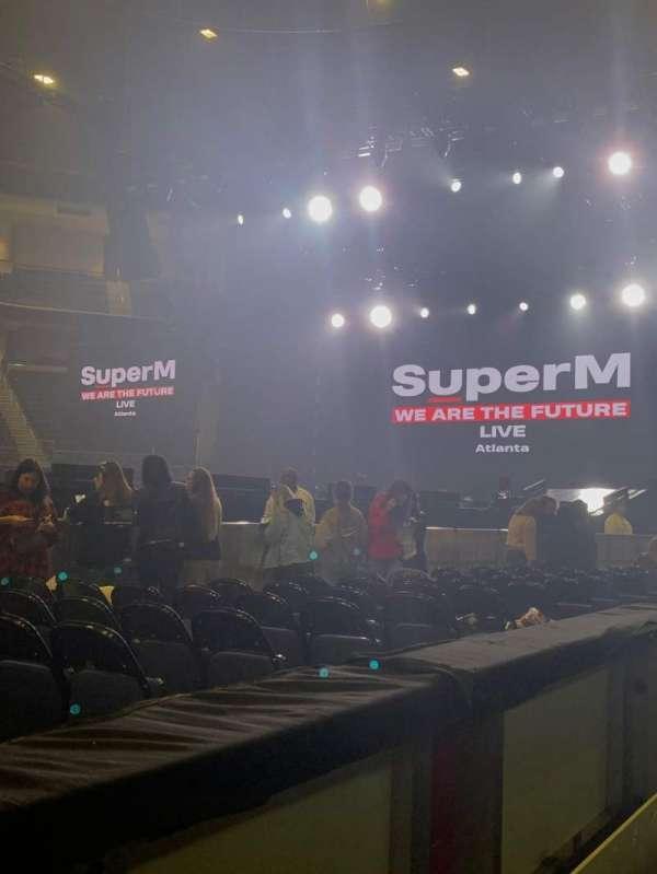 Infinite Energy Arena, vak: 105, rij: A, stoel: 12