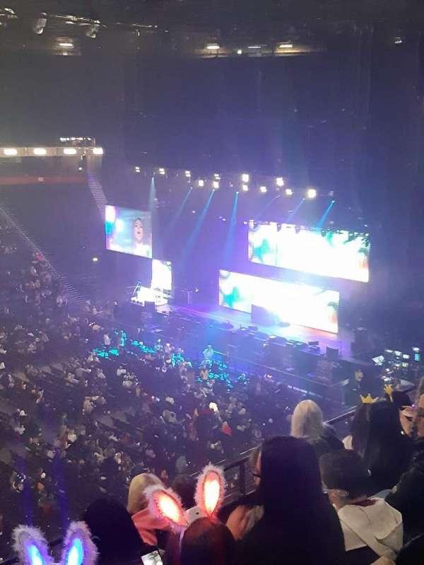 Manchester Arena, vak: 213, rij: E, stoel: 7