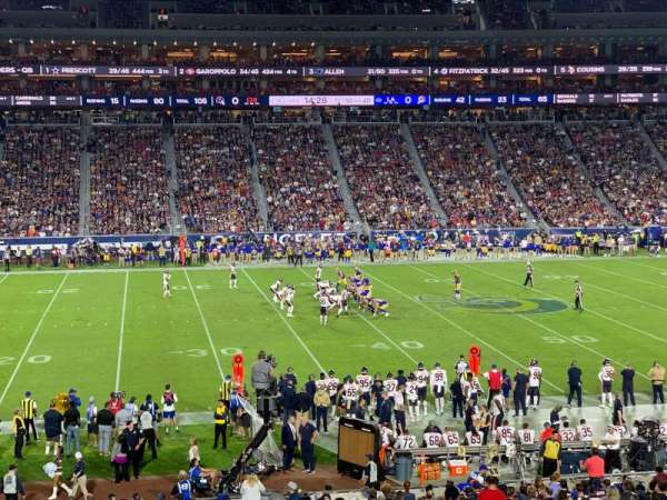 Los Angeles Memorial Coliseum, vak: 123A, rij: 34, stoel: 6