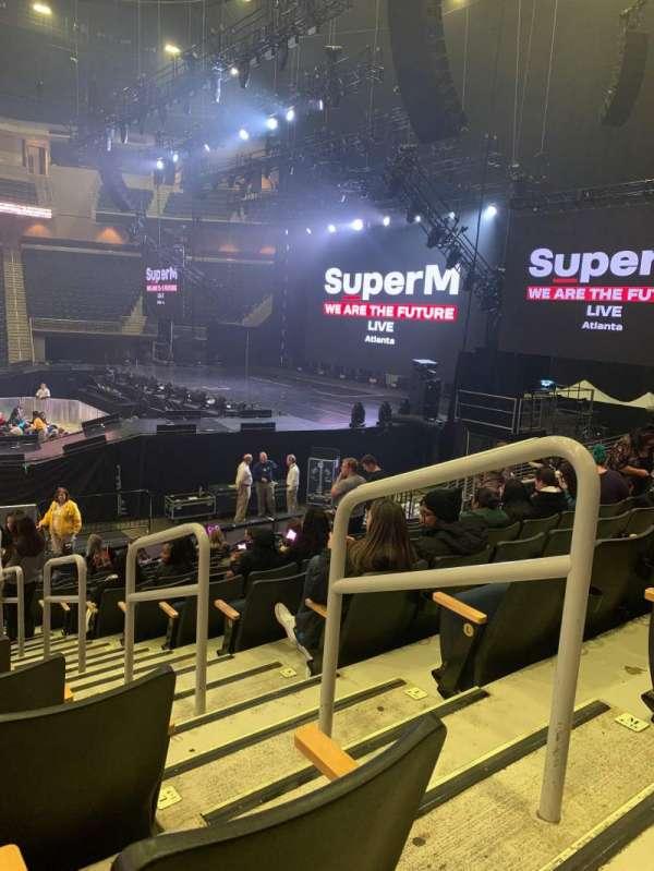Infinite Energy Arena, vak: 106, rij: N, stoel: 2