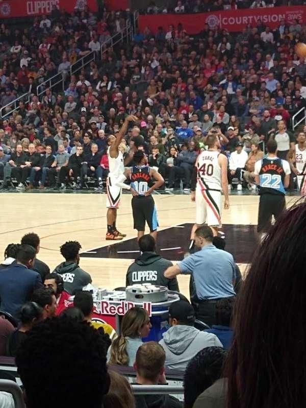 Staples Center, vak: 118, rij: 20, stoel: 7