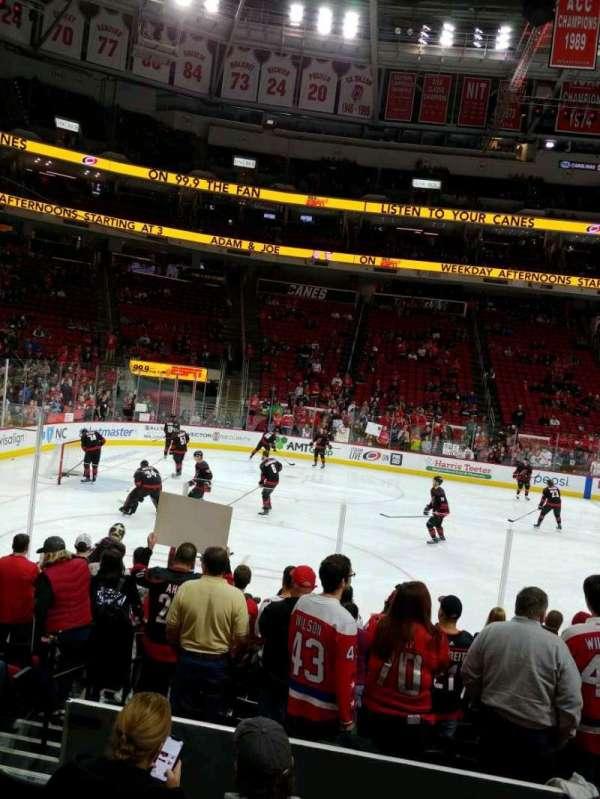 PNC Arena, vak: 106, rij: K, stoel: 12
