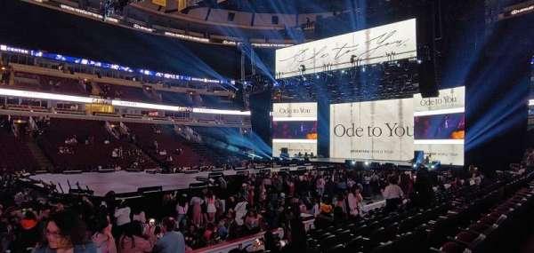 United Center, vak: 101, rij: 9, stoel: 20