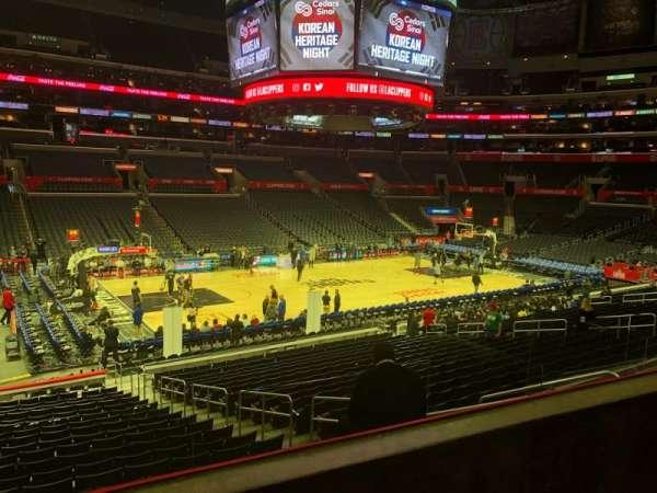 Staples Center, vak: PR16, rij: 2, stoel: 5
