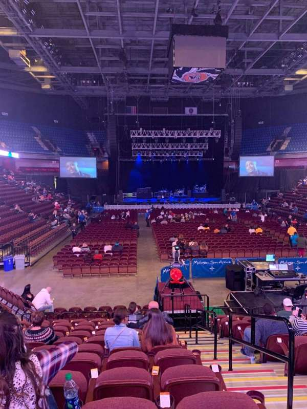 Mohegan Sun Arena, vak: 21, rij: N, stoel: 2