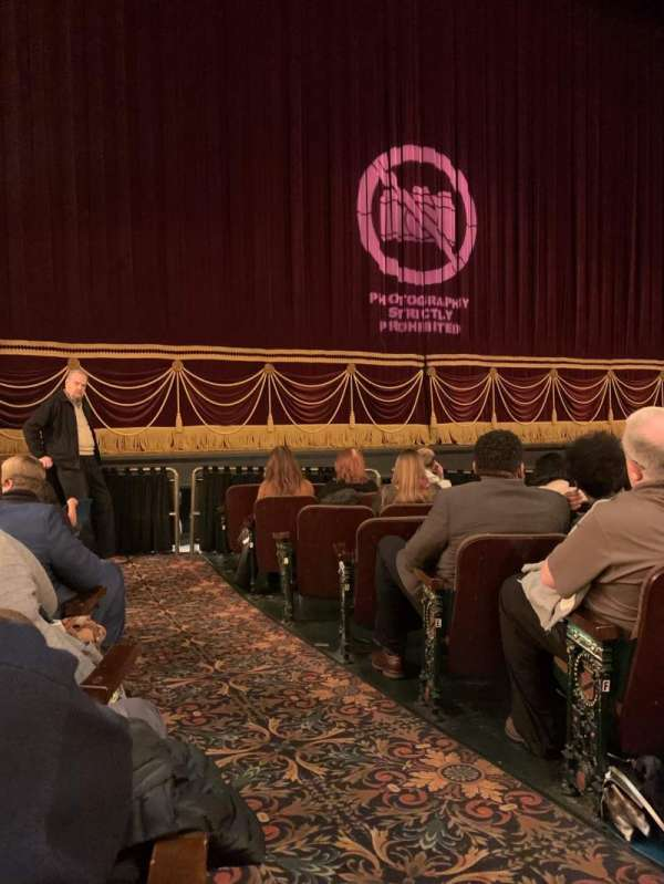 Hippodrome Theatre, vak: Left Orchestra, rij: J, stoel: 1