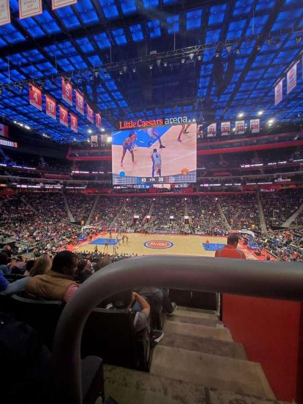 Little Caesars Arena, vak: 109, rij: 22, stoel: 1