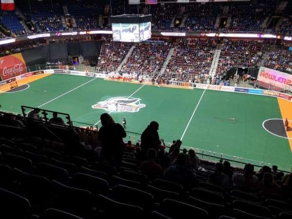 Mohegan Sun Arena, vak: 116, rij: M, stoel: 20