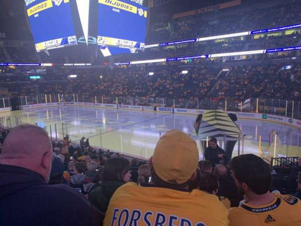 Bridgestone Arena, vak: 118, rij: H, stoel: 6