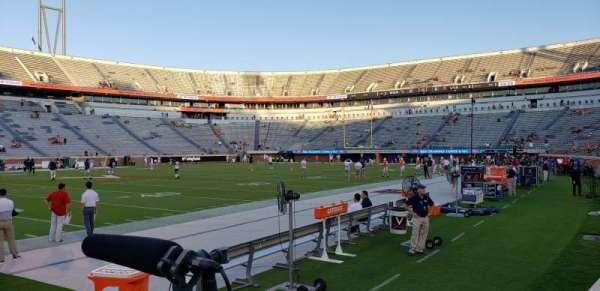 Scott Stadium, vak: 128, rij: B, stoel: 1