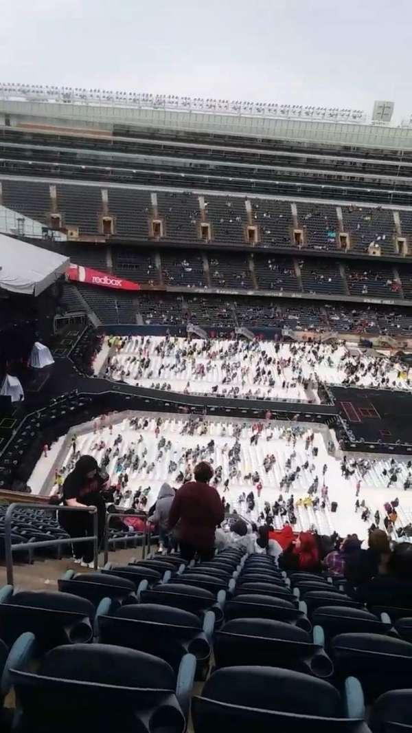 Soldier Field, vak: 440, rij: 23, stoel: 3