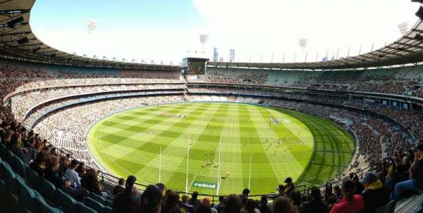 Melbourne Cricket Ground, vak: Q3, rij: J, stoel: 4