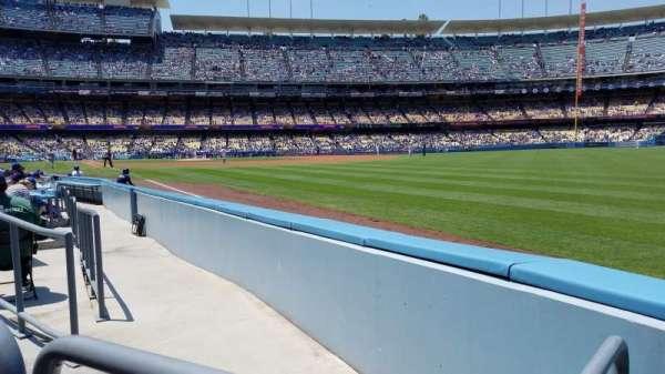 Dodger Stadium, vak: 46FD, rij: A, stoel: 14