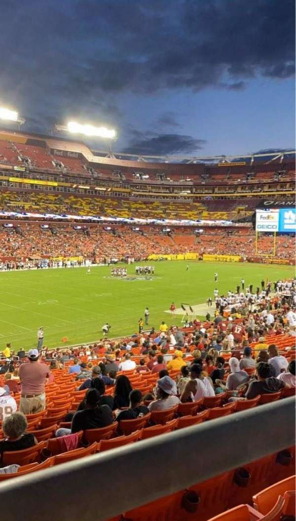 FedEx Field, vak: 226, rij: 1, stoel: 15