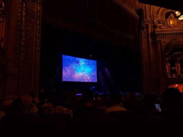 Chicago Theatre, vak: MNFL2L, rij: E, stoel: 217