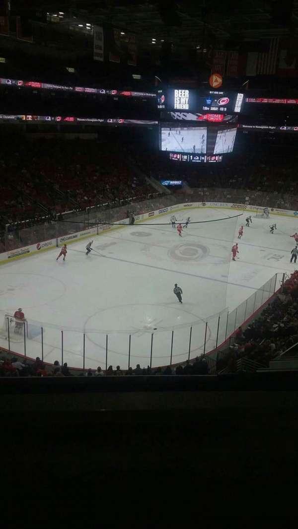 PNC Arena, vak: 210, rij: B, stoel: 1