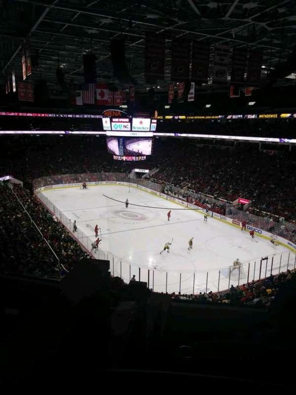 PNC Arena, vak: 214, rij: E, stoel: 12