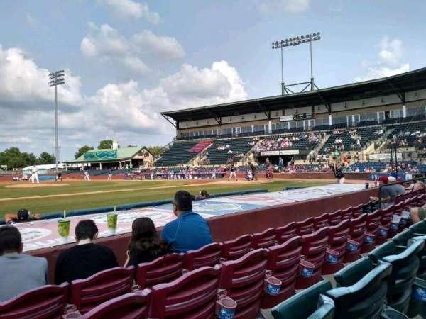 Whitaker Bank Ballpark, vak: 110, rij: 5, stoel: 15