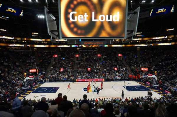 Vivint Smart Home Arena, vak: 18, rij: 22, stoel: 14