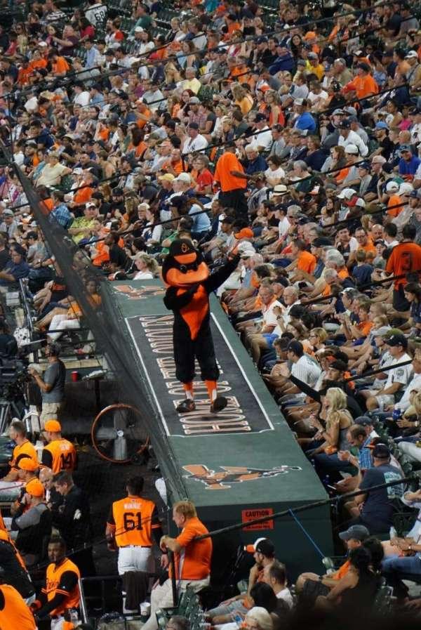 Oriole Park at Camden Yards, vak: 39, rij: 6, stoel: 11
