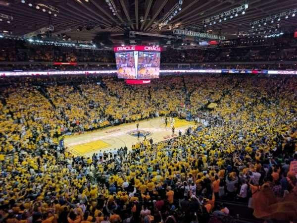 Oracle Arena, vak: M15, rij: 2, stoel: 3