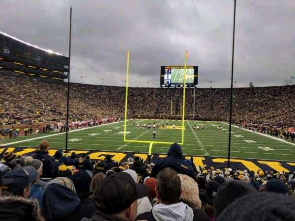 Michigan Stadium, vak: 34, rij: 23, stoel: 18