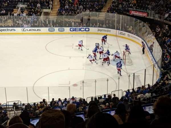 Madison Square Garden, vak: 213, rij: 9, stoel: 6
