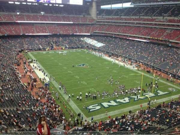 NRG Stadium, vak: 551, rij: J, stoel: 8