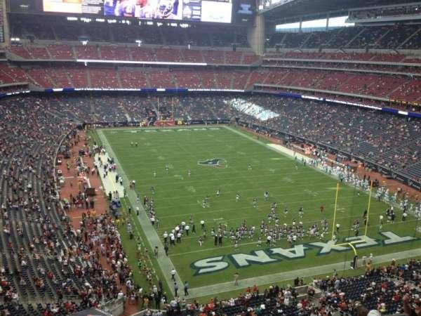 NRG Stadium, vak: 550, rij: G, stoel: 14