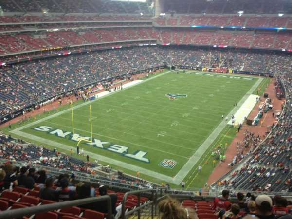 NRG Stadium, vak: 543, rij: M, stoel: 17