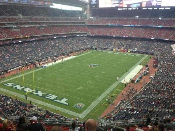 NRG Stadium, vak: 543, rij: M, stoel: 1