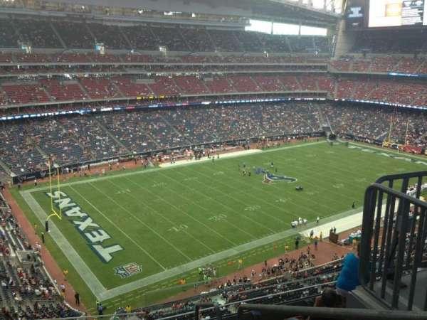 NRG Stadium, vak: 540, rij: M, stoel: 1
