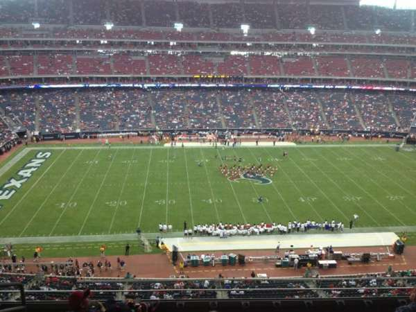 NRG Stadium, vak: 535, rij: M, stoel: 19
