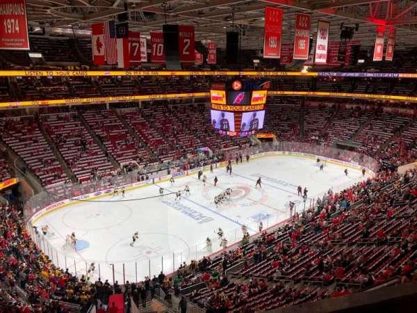 PNC Arena, vak: 328, rij: B, stoel: 8