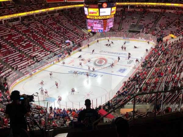PNC Arena, vak: 331, rij: G, stoel: 5