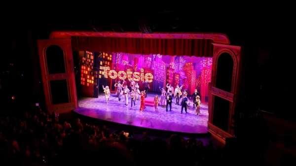 Marquis Theatre, vak: Mezzanine R, rij: G, stoel: 8