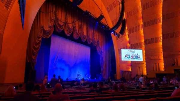 Radio City Music Hall, vak: Orchestra 7, rij: RR, stoel: 701