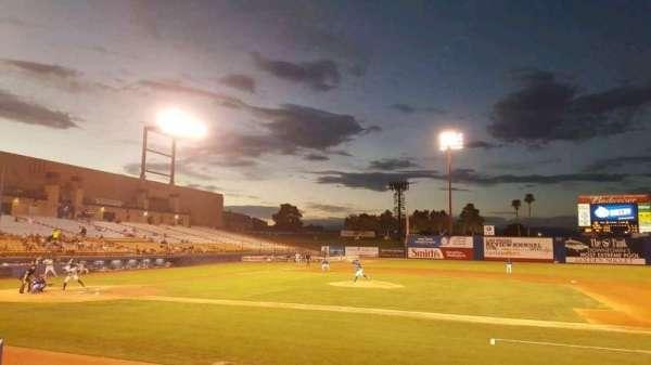 Cashman Field, vak: 17, rij: C, stoel: 9