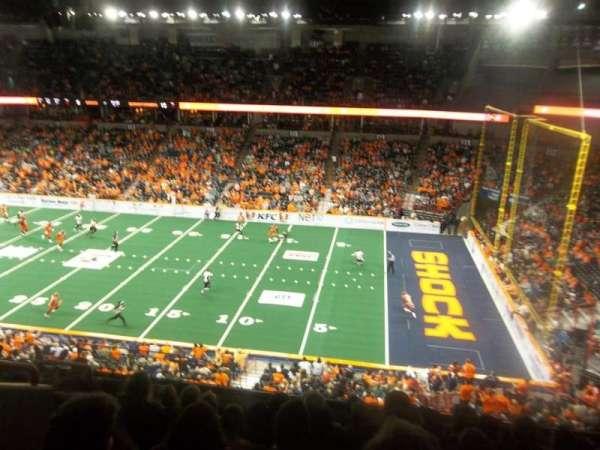 Spokane Arena, vak: 206, rij: M, stoel: 6
